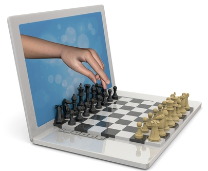 Playing chess against computer